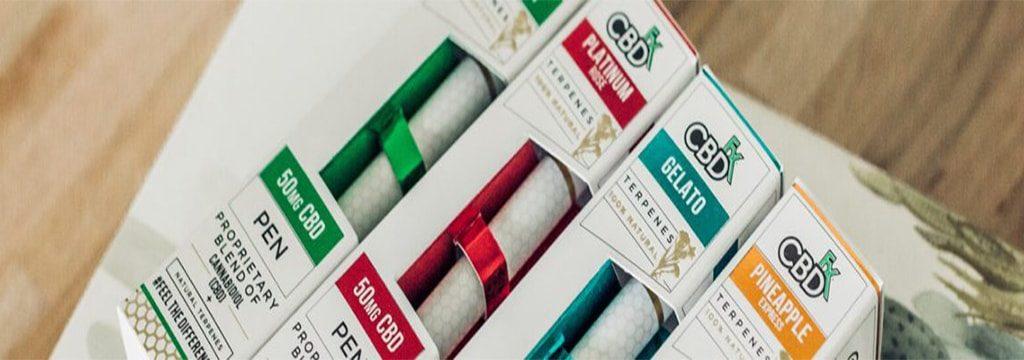 CBDfx CBD Terpenes Vape Pens with 50mg broad-spectrum CBD and strain-specific terpenes